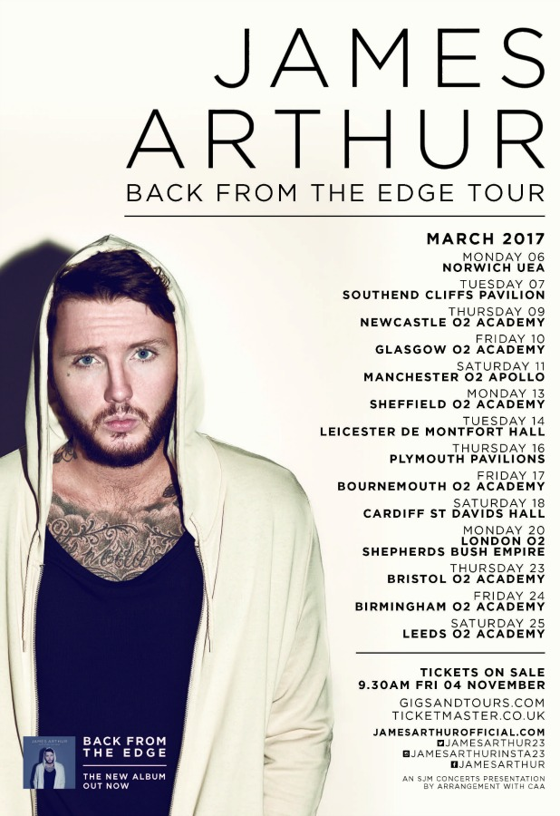 james-arthur-tour
