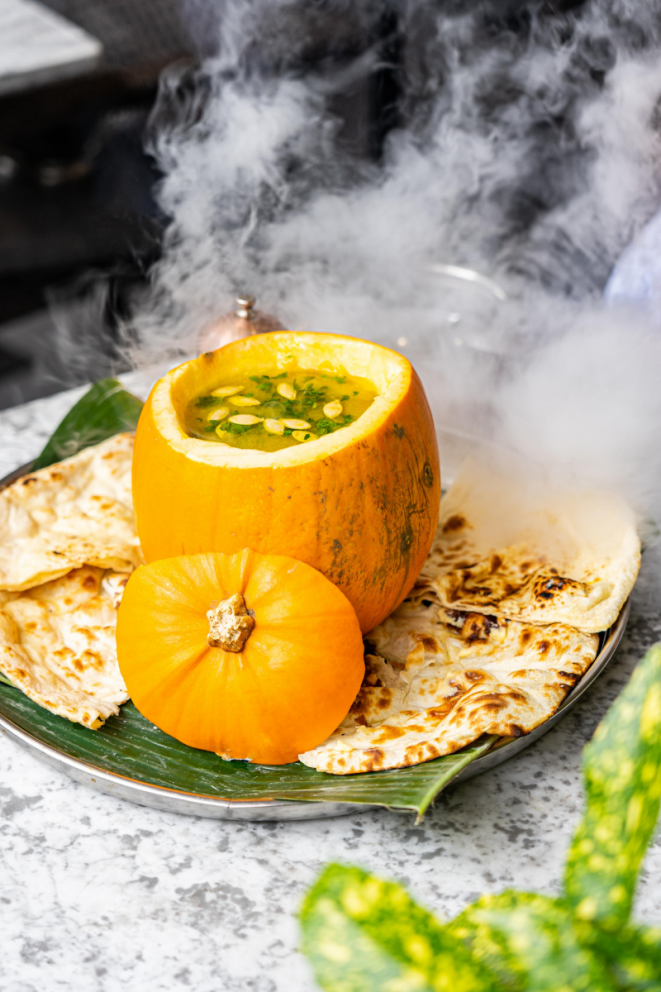 Spiced Pumpkin Soup Recipe - what to do with carved out pumpkin
